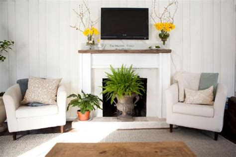 Decorative Driftwood For Homes by 22 Beautiful Fireplace Designs And Summer Decorating Ideas