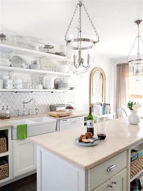 Cottage Kitchen Cupboards - white cottage kitchen milk and honey home hgtv
