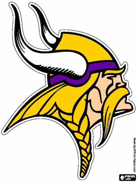 nfl vikings coloring pages free coloring pages of vikings