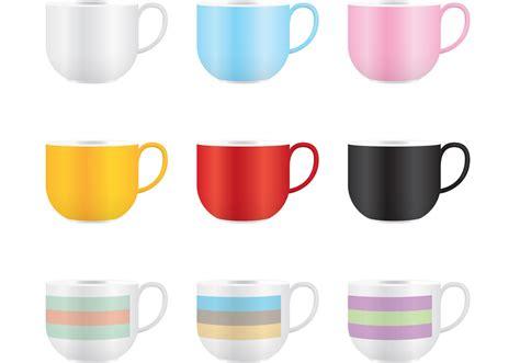 vector coffee mug design colorful coffee mug vector download free vector art
