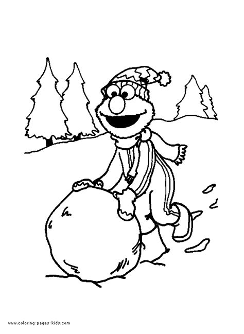 baby elmo colouring pages