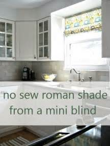 No Sew Roman Shades From Mini Blinds - no sew roman shade from mini blinds
