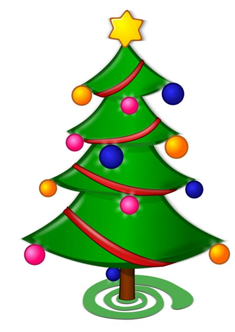 cartoon christmas tree december trees clipart best