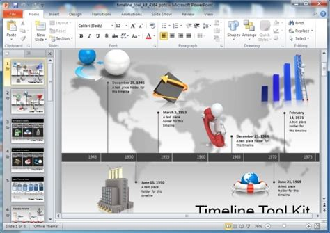 powerpoint template creator awesome timeline toolkit for powerpoint presentations
