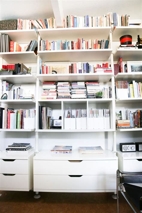 ikea office shelving 25 best ideas about office bookshelves on pinterest