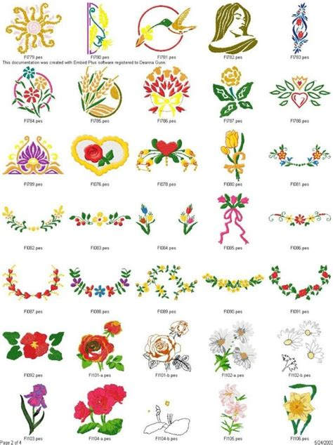 design plus embroidery lot of over 500 brother plus more flowers embroidery