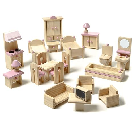childrens dolls house furniture adairs kids heidi s dolls house 22 piece furniture set homewares gifts toys