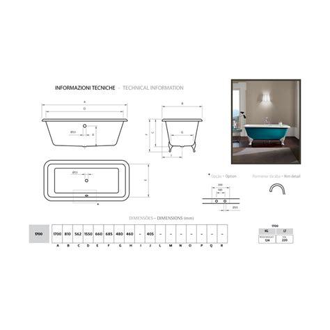vasca da bagno ghisa vasca freestanding di design in ghisa con piedini decorati