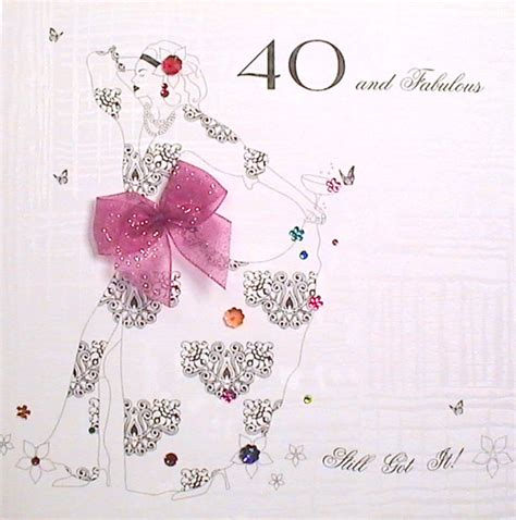 40th Birthday Cards Mojolondon 40th Fabulous Birthday Card By Five Dollar Shake