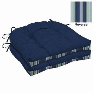 Patio Cushions 26 X 23 Sapphire Leala Texture Outdoor Seat Cushion Pack Of 2