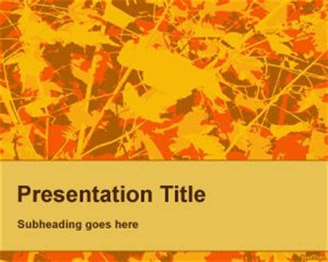 Fall Powerpoint Background Template Free Autumn Powerpoint Templates