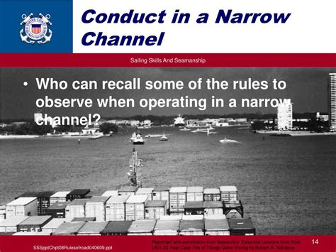 a boat operating in a narrow channel ppt the rules of the nautical road powerpoint