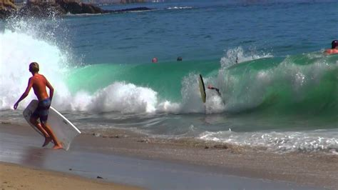 bodyboarding cress street shorebreak laguna youtube