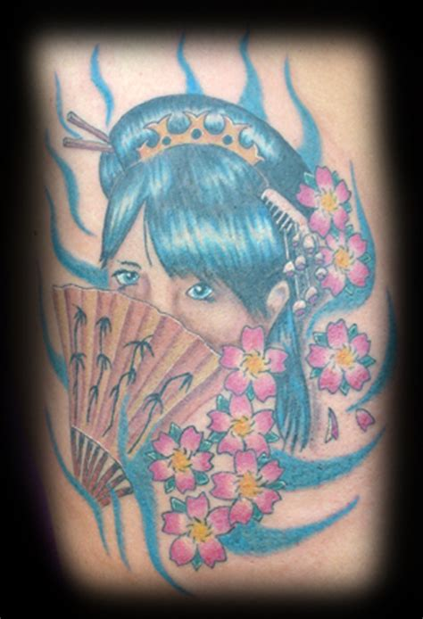 geisha fan tattoo designs geisha tattoo images designs