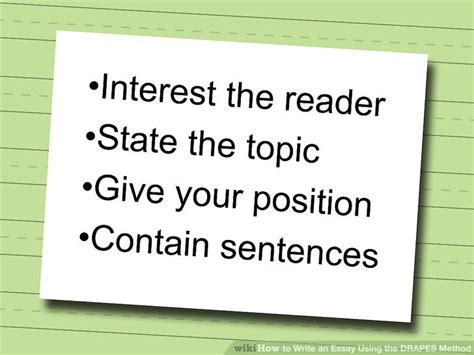 drapes writing how to write an essay using the drapes method 4 steps