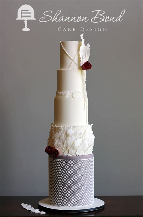 vintage feather wedding cake cakecentralcom