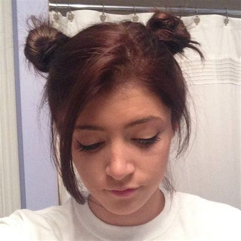 chrissy costanza hairstyles chrissy soo cute in brown like and bun style hair