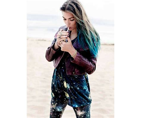 ombre turquoise blue tip dyed hair extension teal hair