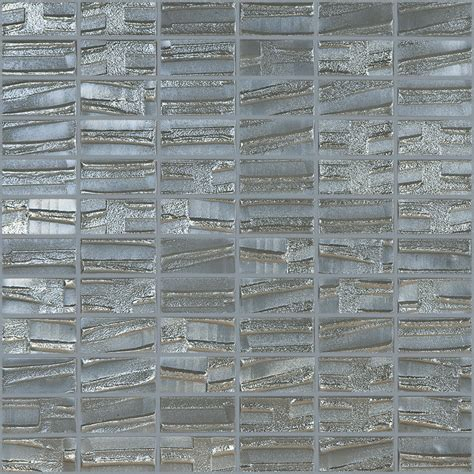 Shop Elida Ceramica Textured Nickel Glass Mosaic Square Garden Wall Tiles