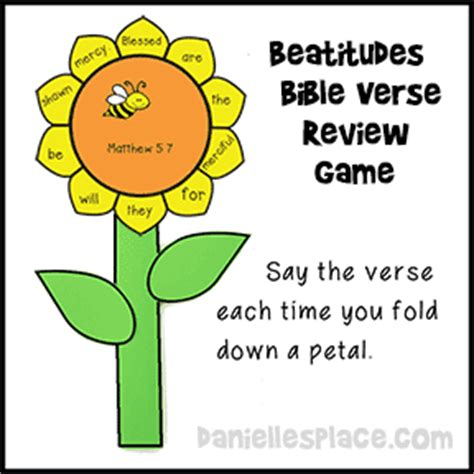 Beatitudes Sunday School Lessons for Children