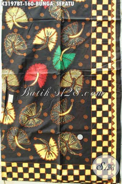 Sepatu Santai Kain kain batik motif bunga sepatu batik kombinasi tulis yang