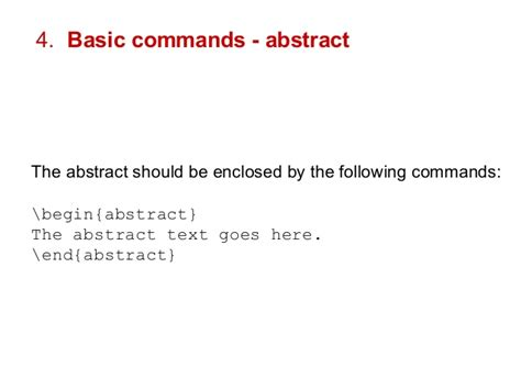Latex Tutorial Abstract | how to start using latex and bibtex