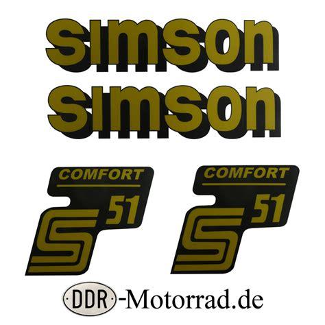 Simson Tuning Aufkleber by Aufkleber Simson S51 Comfort Ddr Moped Ersatzteile