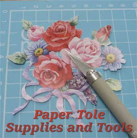 Paper Crafts Supplies - beginner papier paper tole supplies and tools