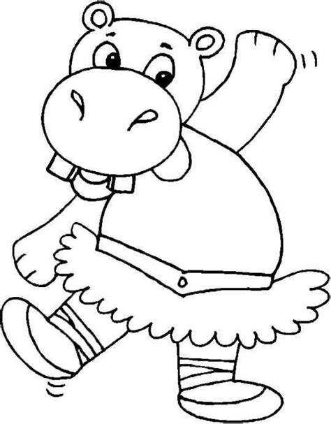 Hippopotamus Coloring Page by Hippopotamus Coloring Page For Coloring Pages For