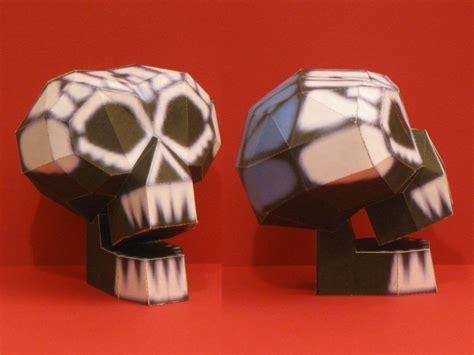 Paper Craft Skull - kingdom 2bhearts 2b2 2boogie 27s 2bmanor 2bskull