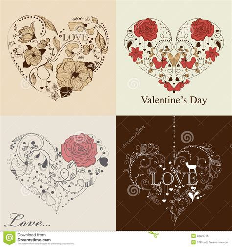 valentines sets st s day set royalty free stock photo image