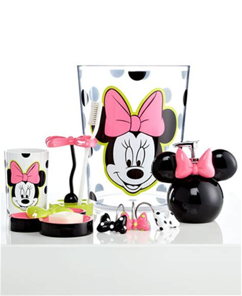 Disney Bath Accessories Neon Minnie Trash Can Bathroom Minnie Mouse Bathroom Accessories