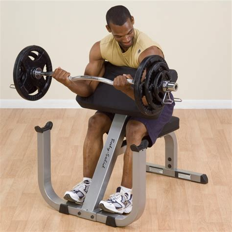 preacher bench concentration curls gpcb329 body solid preacher curl bench body solid fitness