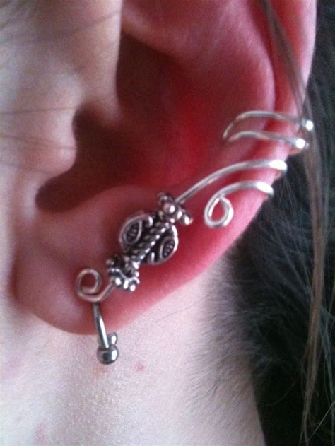 how to make ear cuffs jewelry diy a more advanced ear cuff earrings