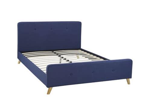 Walmart Canada Bed Frames Tufted Platform Bed Frame Blue Walmart Canada