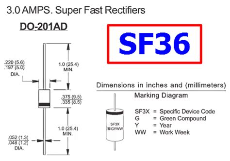 high voltage rectifier diode datasheet sf36 diode datasheet 3 0a 400v 35ns fast rectifier ts