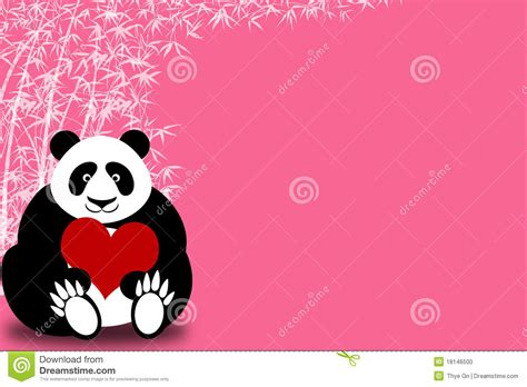 valentines day panda happy valentines day panda holding stock