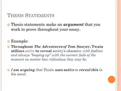 Analytical Essay Thesis Exle by How To Create A Thesis Statement For An Analytical Essay