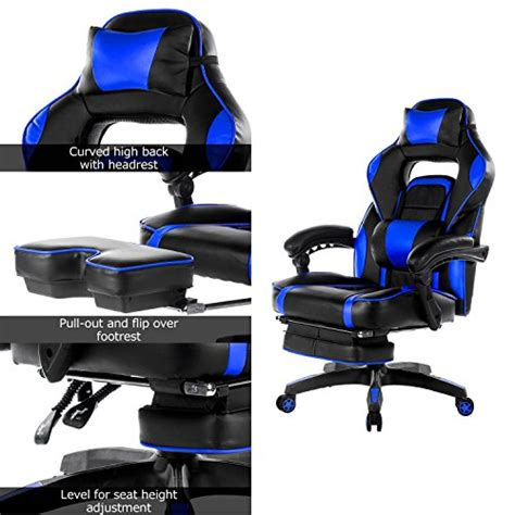 Gaming Chair With Footrest by Merax High Back Racing Home Office Chair Ergonomic Gaming
