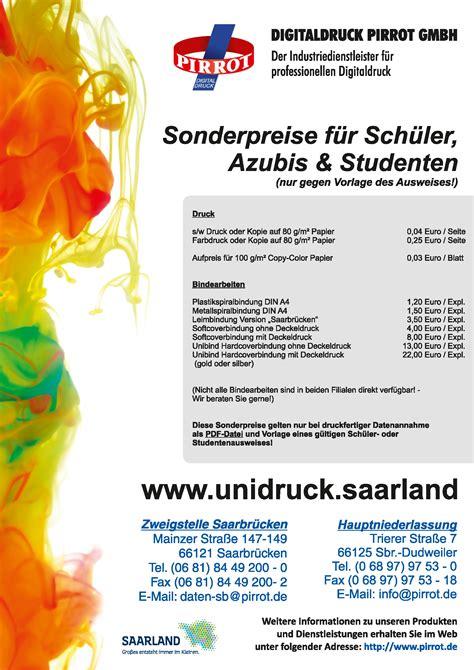 Digitaldruck Pirrot by Produkte Drucksachen F 252 R Sch 252 Ler Und Studenten