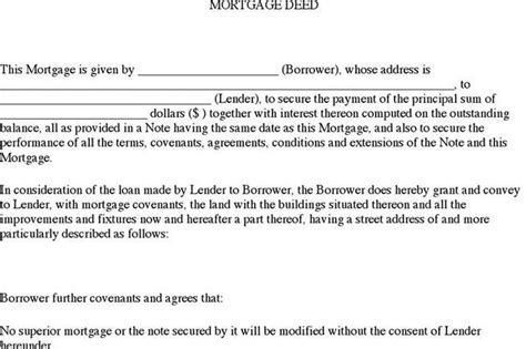 Mortgage Forms Download Free Premium Templates Forms Sles For Jpeg Png Pdf Word And Mortgage Deed Template