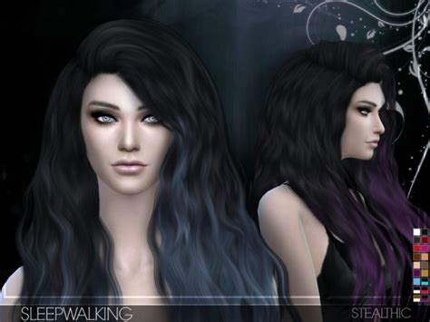 sims 4 popular custom content hair the sims resource sleepwalking female hair by stealthic