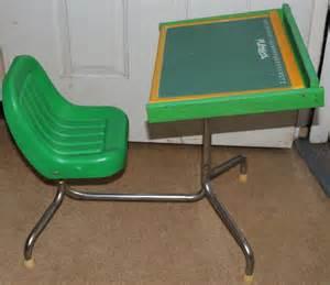 Playskool Desk by Vintage Playskool Desk Attached Seat Chalk Board