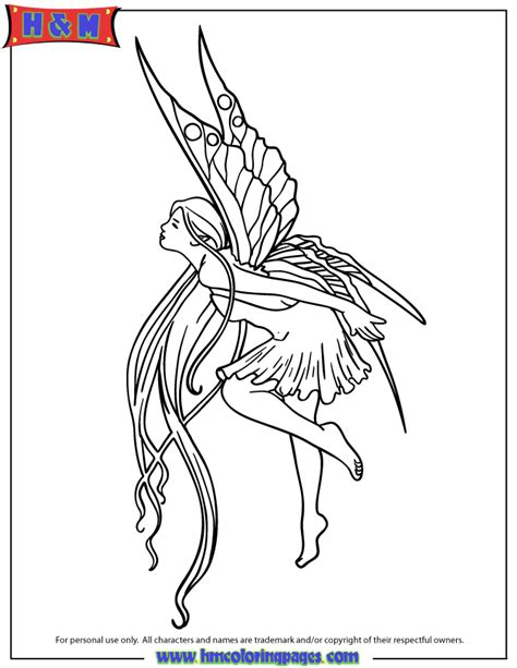 fairy tattoo design coloring page h m coloring pages