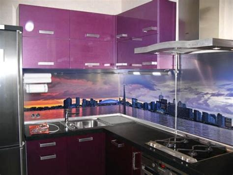 led digital kitchen backsplash colorful glass backsplash ideas adding digital prints to modern kitchen design