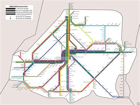 belgian rail map belgium