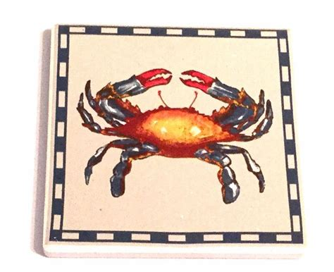 chesapeake bay home decor 4 piece chesapeake bay ltd coasters blue crab nautical
