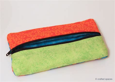 Pattern For Fabric Pencil Case | crafted spaces sewing a pencil case