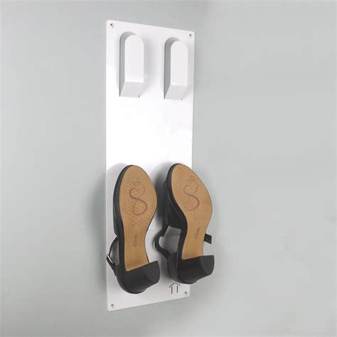slimline shoe storage slimline wall mounted shoe rack by the metal house limited