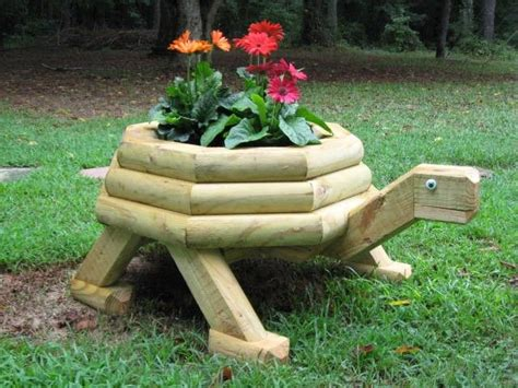 turtle planter large landscape timber turtle planter 60 00 via etsy